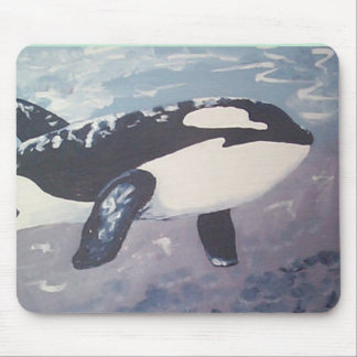 whales can fly mouse pad