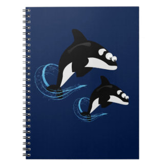 whales spiral notebook