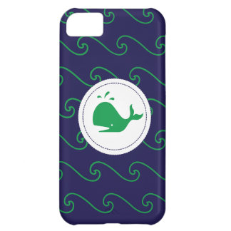 Whales Tale Green & Wavy Navy Phone Case
