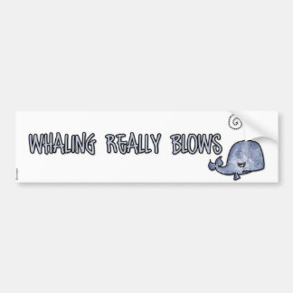 Whaling really blows bumper sticker
