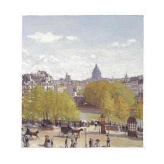 Wharf of Louvre, Paris by Claude Monet Notepad