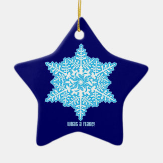What A Flake Ceramic Star Decoration