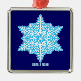 What A Flake Silver-Colored Square Decoration