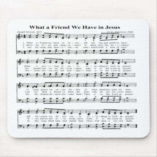 WHAT A FRIEND -MOUSEPAD