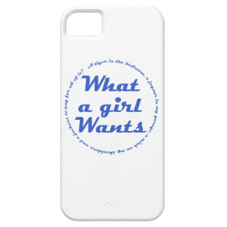 What a Girl Wants iPhone 5 Cover