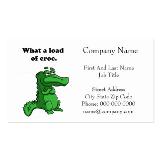What A Load of Croc Alligator Crocodile Cartoon Business Card Templates