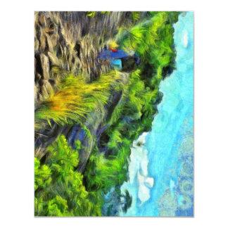 What a lovely trek 11 cm x 14 cm invitation card