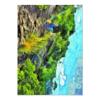 What a lovely trek 11 cm x 16 cm invitation card
