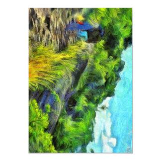 What a lovely trek 13 cm x 18 cm invitation card