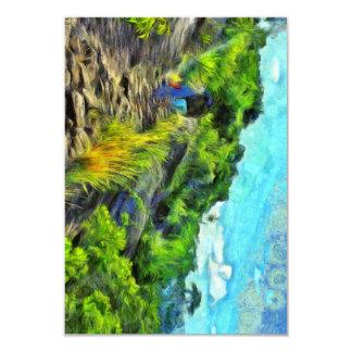 What a lovely trek 9 cm x 13 cm invitation card