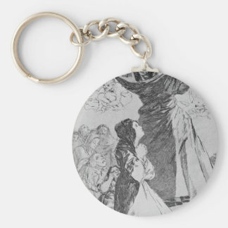 What a Tailor can do! by Francisco Goya Basic Round Button Key Ring