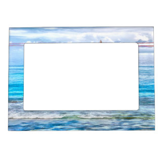 What a view of the ocean magnetic picture frames