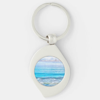What a view of the ocean Silver-Colored swirl key ring