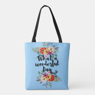 What a-Wonderful Day Tote Bag