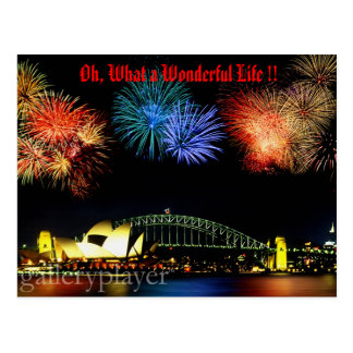 What a Wonderful Life Postcard