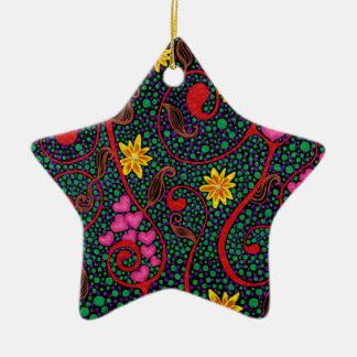 What a wondetrful swirled. ceramic star decoration