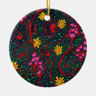 What a wondetrful swirled. round ceramic decoration