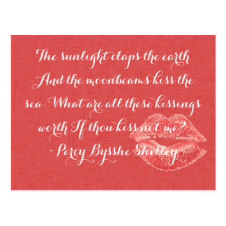 What are all these kissings worth Romantic Quote Postcard