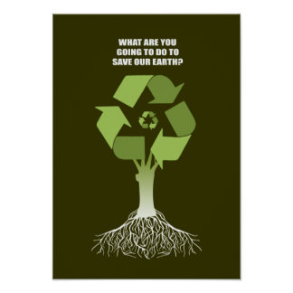WHAT ARE YOU GOING TO DO TO SAVE EARTH POSTER