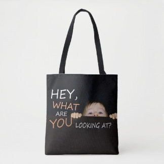 What Are You Looking At Baby Tote Bag