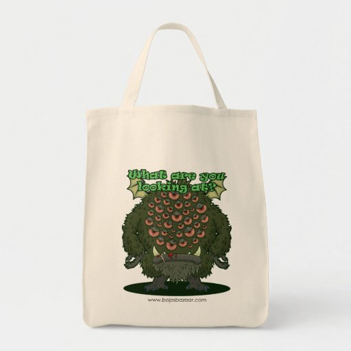 What are you looking at? (Green Monster) Bag