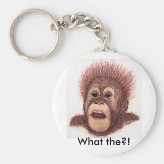 What? Basic Round Button Key Ring