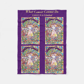 What Cancer Cannot Do Angel Art Soft Chemo Blanket
