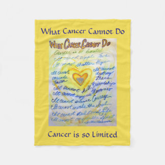 What Cancer Cannot Do Angel Custom Chemo Blankets
