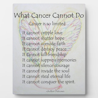 What Cancer Cannot Do Poem Angel Painting Plaque