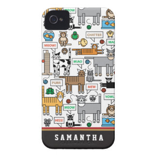 What Cats Say iPhone 4 Cover