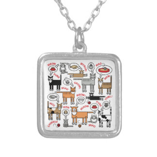 What Cats Think About Square Pendant Necklace