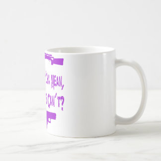 What'Cha Mean Girls Can't? Basic White Mug