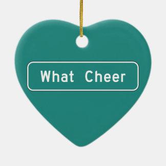 What Cheer, Road Marker, Iowa, USA Christmas Tree Ornament