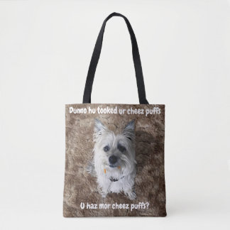 What Cheese Puffs? All-Over-Print Bag