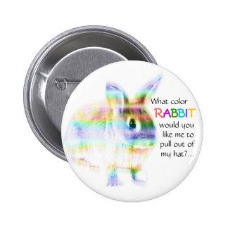 What color Rabbit...? 6 Cm Round Badge