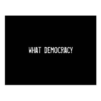 what democracy postcards