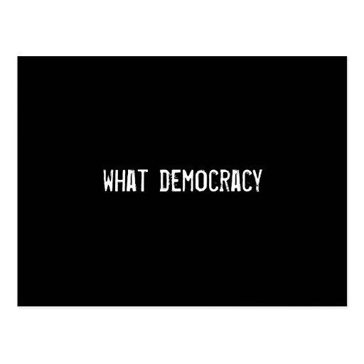 what democracy postcards