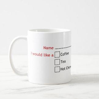 What did you want again? basic white mug