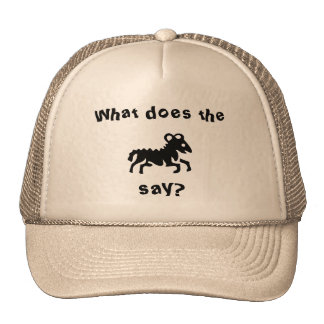 What do the creature say? hat