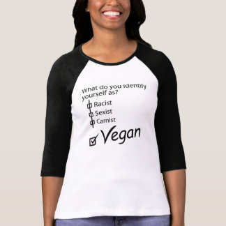 What do you identify yourself as? Vegan. T-Shirt