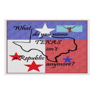 What Do You Mean TEXAS Isn't a Republic Poster