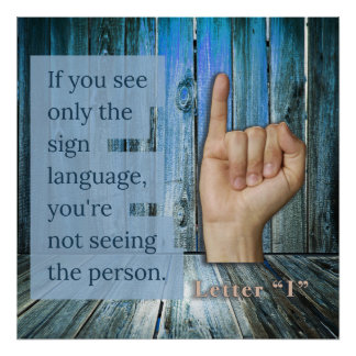 What do you see? Sign Language