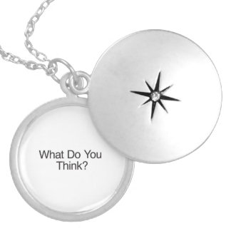What Do You Think?.ai Round Locket Necklace