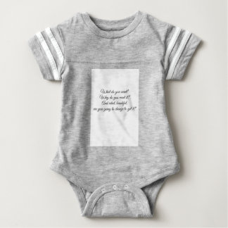 What do you Want? Baby Bodysuit