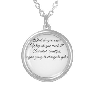 What do you Want? Silver Plated Necklace