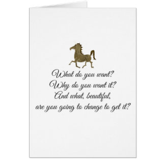 What do you want unicorn? card