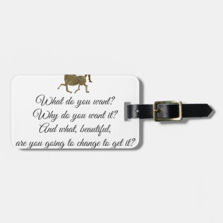 What do you want unicorn? luggage tag