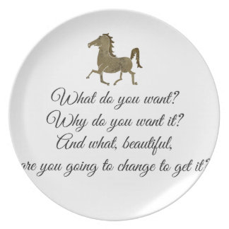 What do you want unicorn? plate
