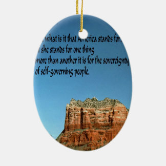 What does America stand for? Ceramic Oval Decoration