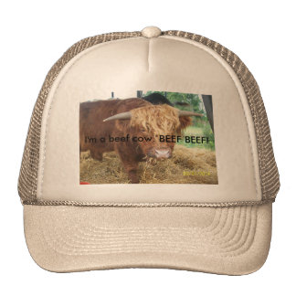what does the beef cow say? trucker hat